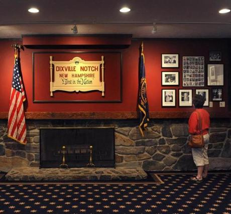 The ballot room at the Balsams Resort in Dixville Notch.